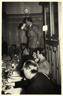 Harry Hays Morgan toasts the Shuttlecock Club